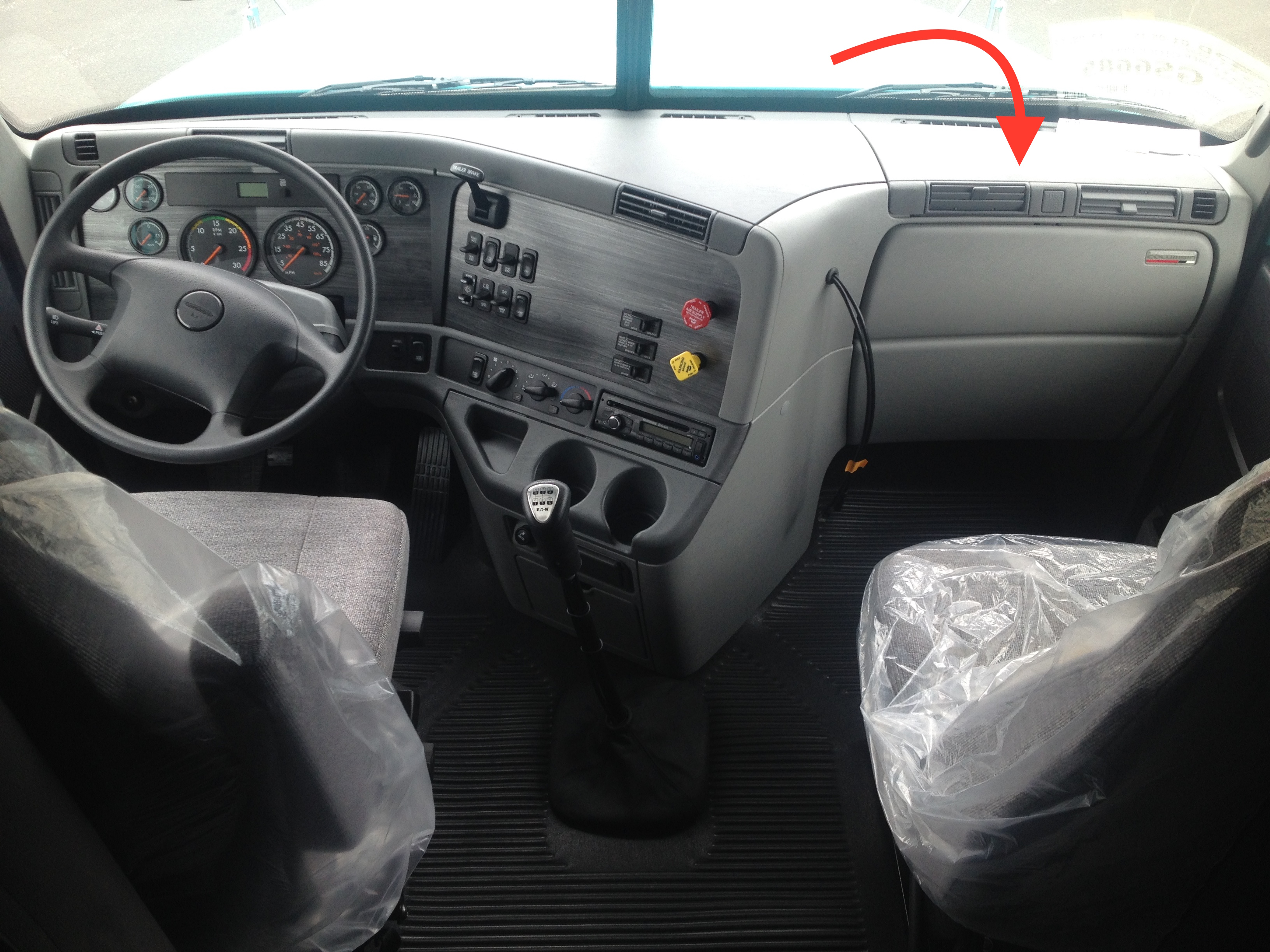 Electrical dash cover freightliner century and columbia - 2007 freightliner columbia interior ...